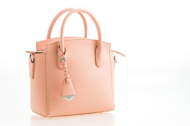 Beautiful elegance and luxury fashion pink women handbag Free Photo