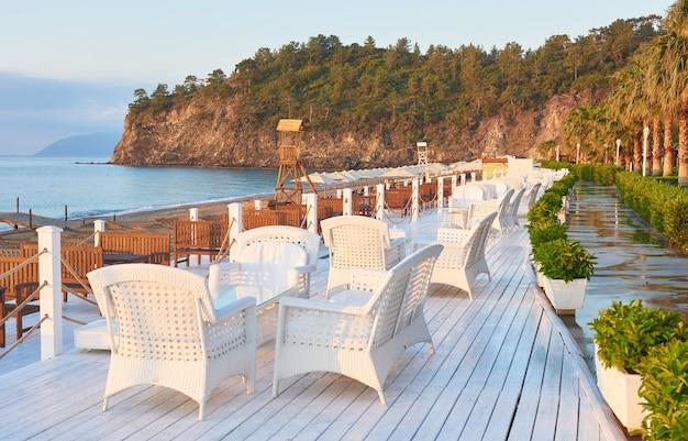 Beautiful embankment for walking and sport in amara dolce vita luxury hotel. alanya turkey. Free Photo