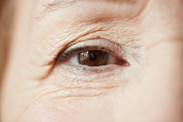 Beautiful eye of senior woman Free Photo