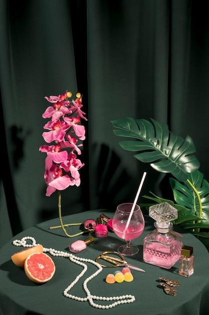 Beautiful fashion arrangement on table Free Photo
