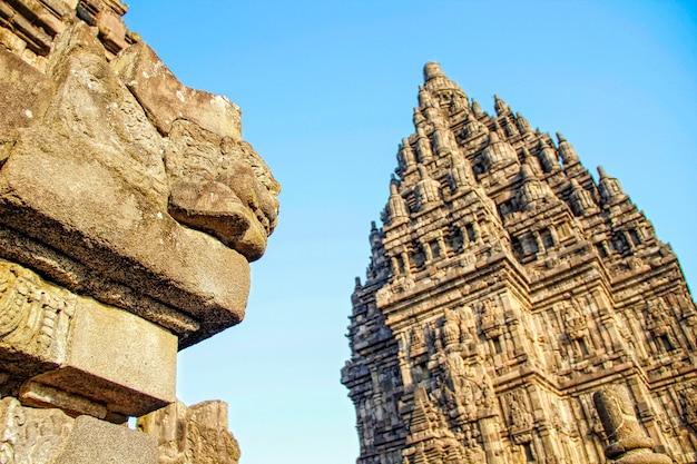 A beautiful figure in the prambanan temple. indonesia Premium Photo