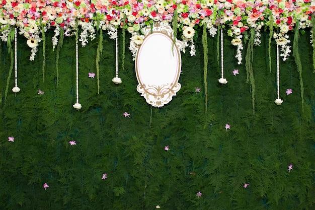 Beautiful flower wedding decoration Premium Photo