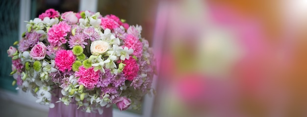 Beautiful flowers, decorations, gift flowers Premium Photo