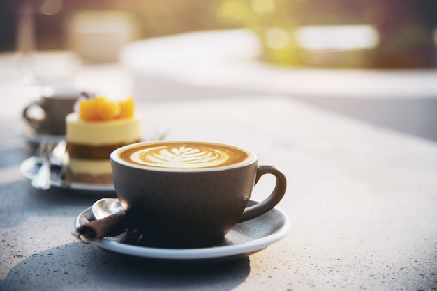 Beautiful fresh relax morning coffee cup set Free Photo