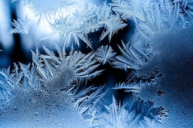 Красивый морозный узор на окне Бесплатные Фотографии