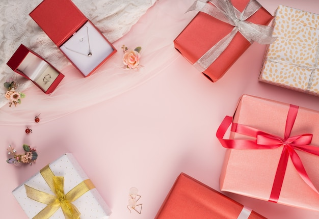 Beautiful gift box and jewel background photo free download beautiful gift box and jewel background free photo negle Images