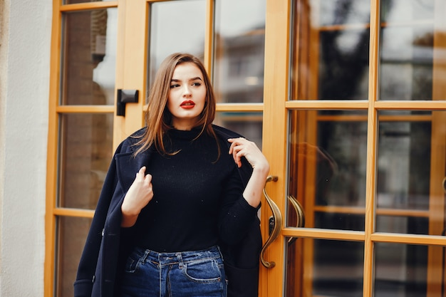Beautiful girl in the city Free Photo