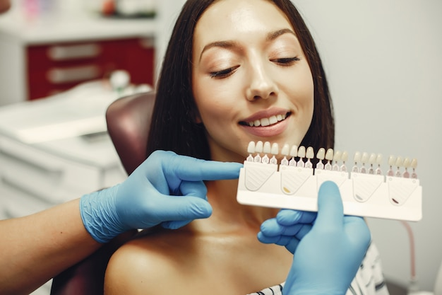 Beautiful girl in a dentist Free Photo