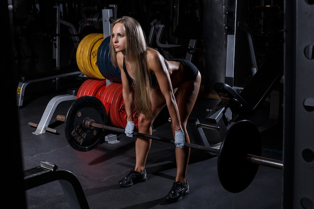 Beautiful girl in the gym Free Photo