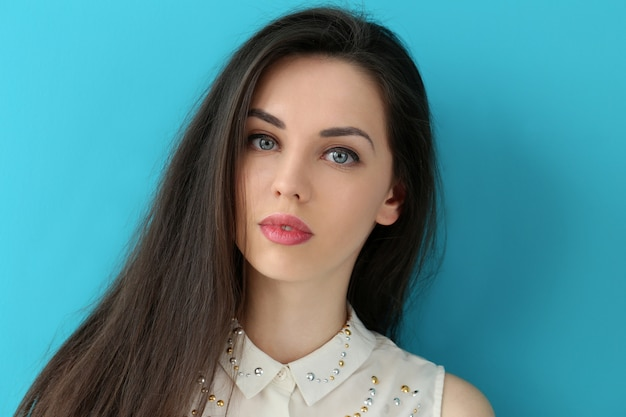 Beautiful girl with cute face Free Photo