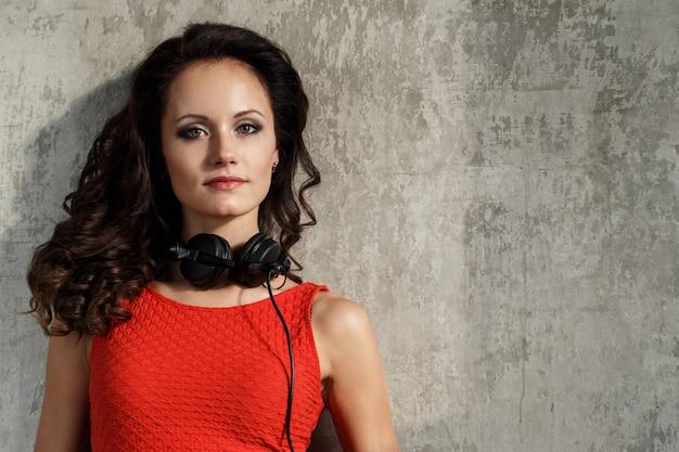 Beautiful girl with headphones Free Photo