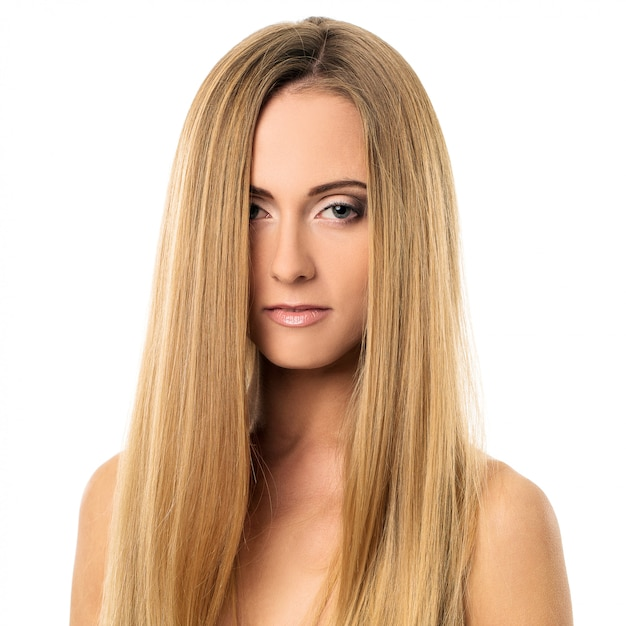 Beautiful girl with straight hair Photo | Free Download