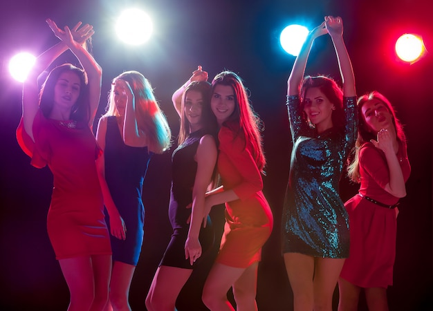 Beautiful girls dancing at the party Free Photo