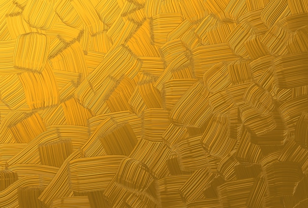 Beautiful Gold Brush Stroke Painting Texture Background Photo