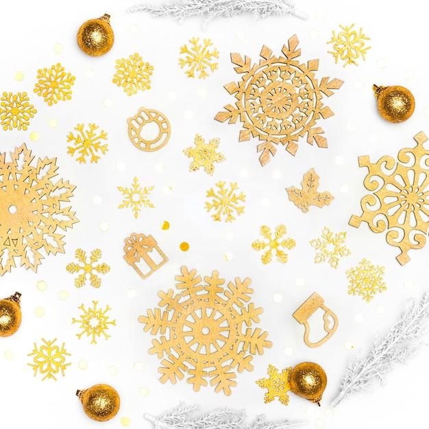 美しい黄金のクリスマスのコンセプト 無料写真