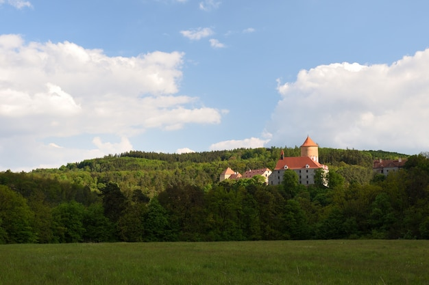 Beautiful gothic castle veveri. the city of brno at the brno dam. south moravia - czech republic - c Free Photo