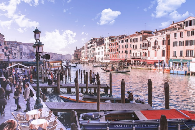Beautiful grand canal in venice, italy Free Photo