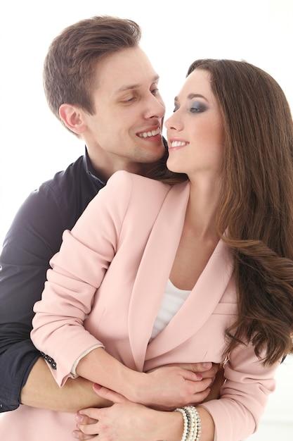 Beautiful, happy couple cuddling Photo   Free Download