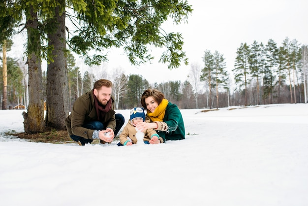Beautiful and happy family Premium Photo