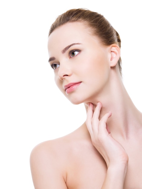 Beautiful health woman face with clean purity skin Free Photo