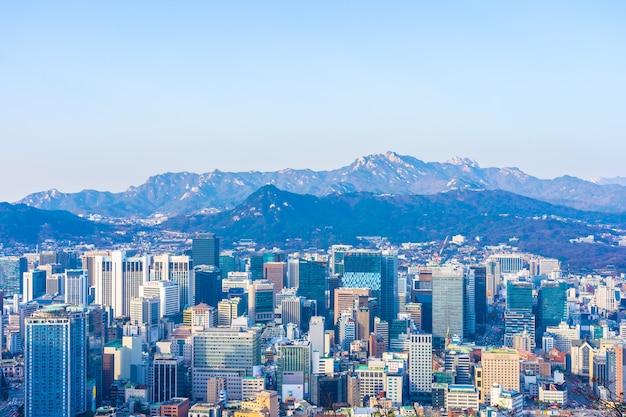 서울의 아름다운 풍경과 도시 풍경 무료 사진