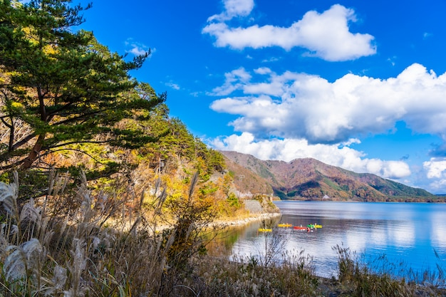 Beautiful landscape around lake kawaguchiko Free Photo