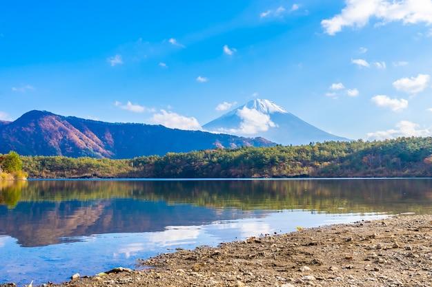 Красивый пейзаж горы фудзи Бесплатные Фотографии