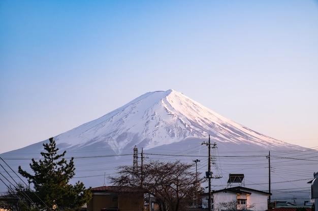 Beautiful landscape with mountain fuji in japan Premium Photo