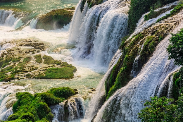 beautiful lanscape with waterfall Free Photo