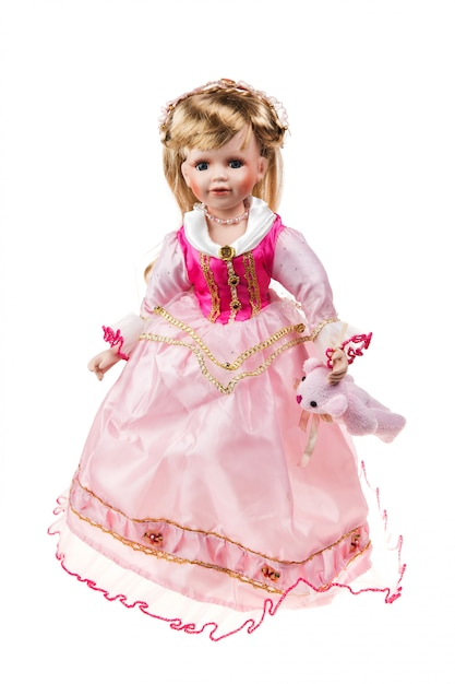 Beautiful large plastic doll Premium Photo