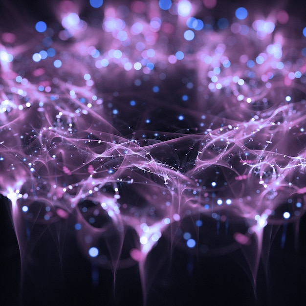 beautiful lights particles wallpaper photo | free download