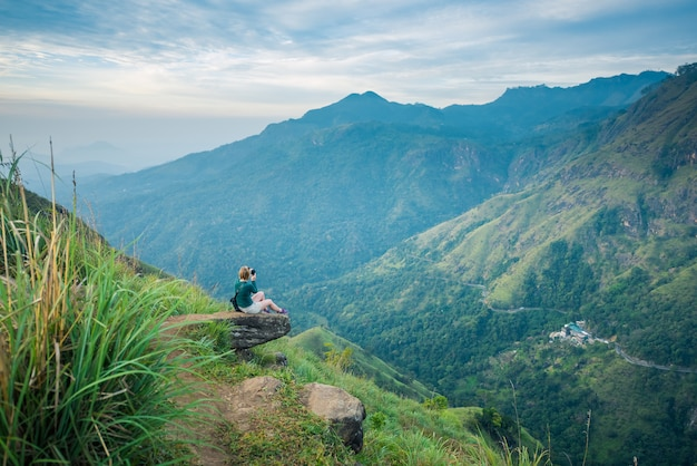 Beautiful little adam's peak, ella, sri lanka Premium Photo