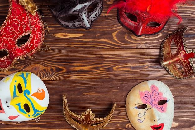 Beautiful masks for carnival Free Photo