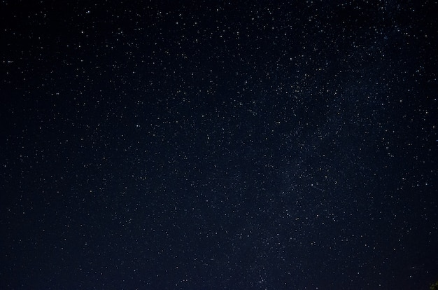 Beautiful night sky full of stars. part of the milky way in the sky. Premium Photo