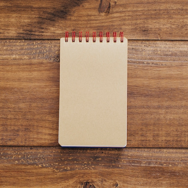Beautiful notebook on a vintage background Free Photo