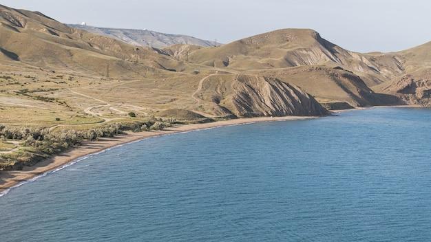 Beautiful ocean landscape high view Free Photo