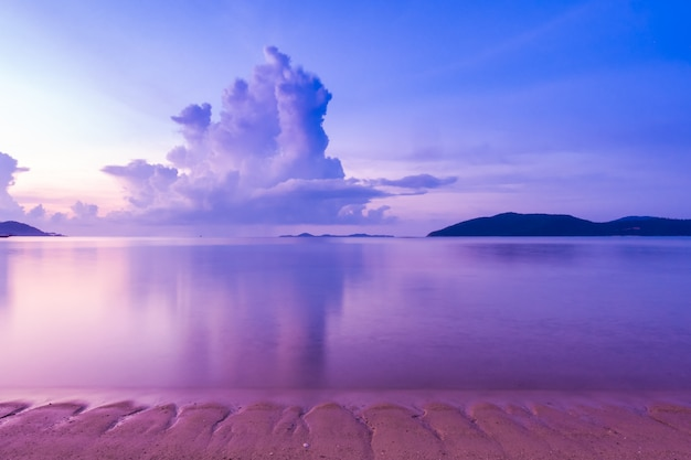 Beautiful outdoor view with tropical beach and sea Free Photo