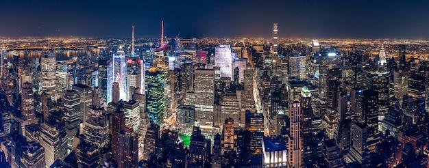 뉴욕시의 아름다운 파노라마 샷 무료 사진