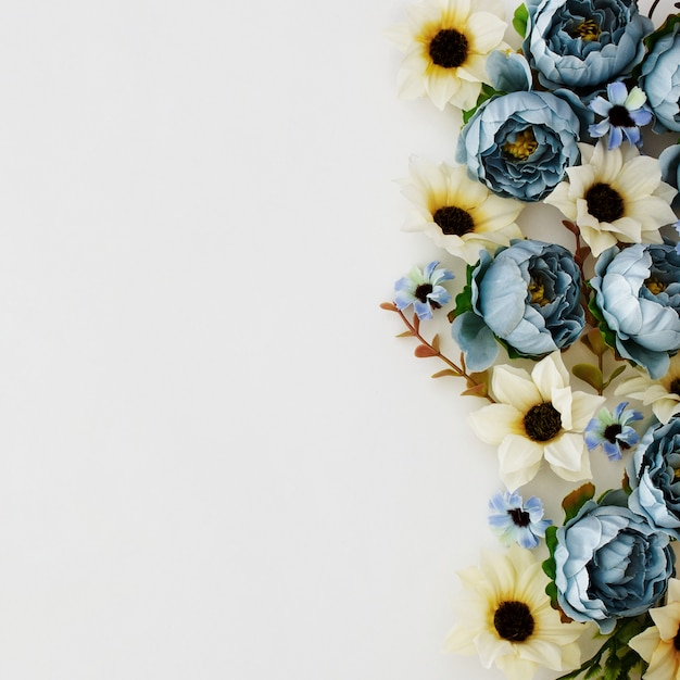 Beautiful peonies on white background Free Photo