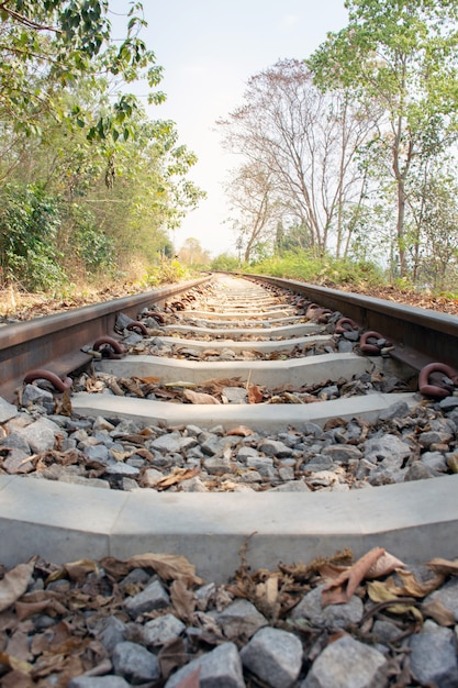 Beautiful photo of railway tracks Premium Photo