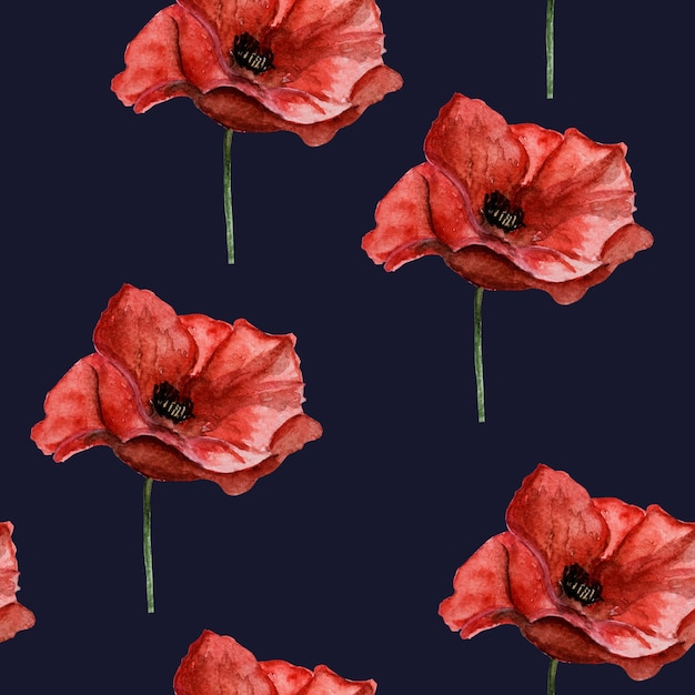 Beautiful picture of poppy flowers. happy remembrance day. close-up, view from above. national holiday concept. congratulations for family, relatives, friends and colleagues Premium Photo