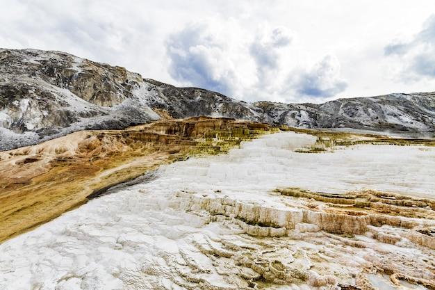 Lo splendido scenario del parco nazionale di yellowstone sorge negli stati uniti Foto Gratuite