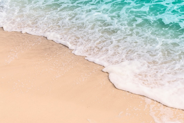 Beautiful sea wave on the sand Premium Photo