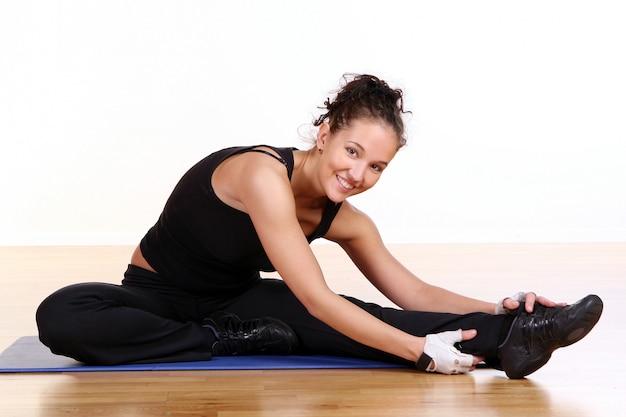 Beautiful sexy woman doing fitness Free Photo