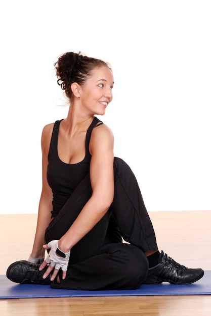 Beautiful and sexy woman doing fitness Free Photo