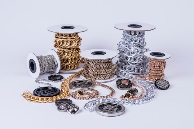 Beautiful shiny chains Free Photo