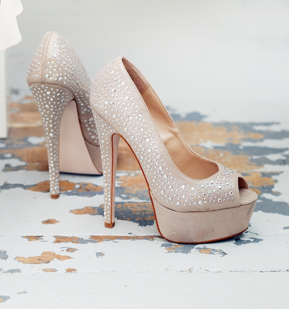 Beautiful shoes with bright Free Photo