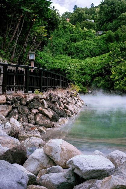 Beitou Thermal Valley, 타이페이, 대만에서 온천의 아름다운 샷 무료 사진