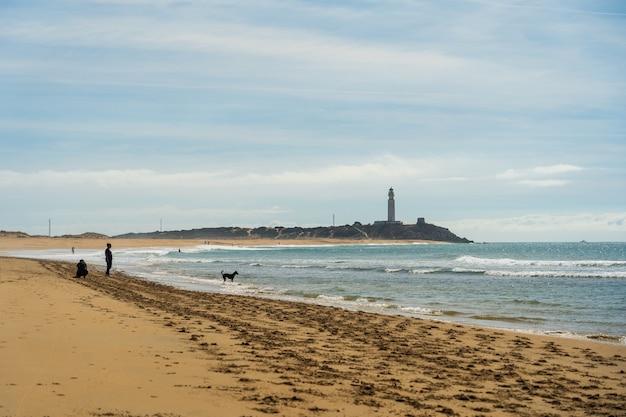 Красивый снимок песчаного пляжа в захоре, испания Бесплатные Фотографии