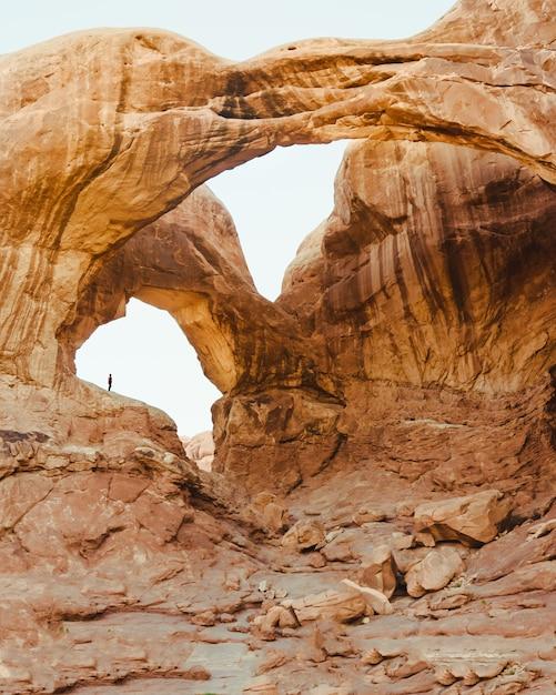 グランドキャニオンの岩の美しいショット 無料写真